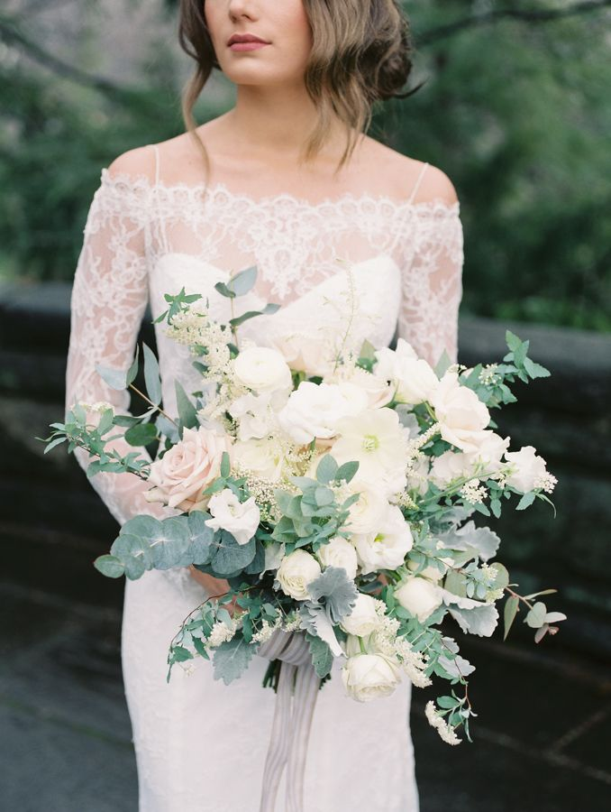 White and Eucalyptus Bouquet | photography by http://stephaniesunderland.com/