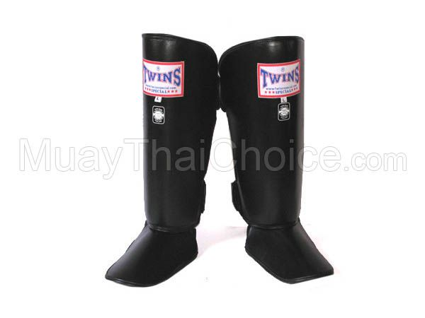 TWINS Muay Thai Shin Guards : Black
