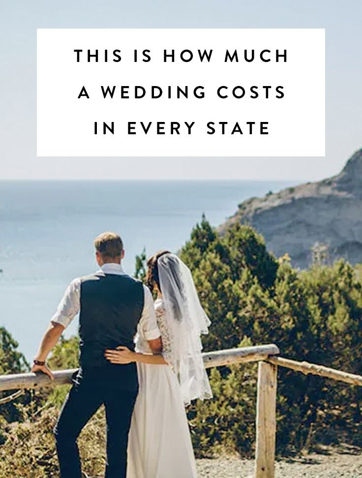 This is how much a wedding costs in every state wedding for How much should a wedding cost