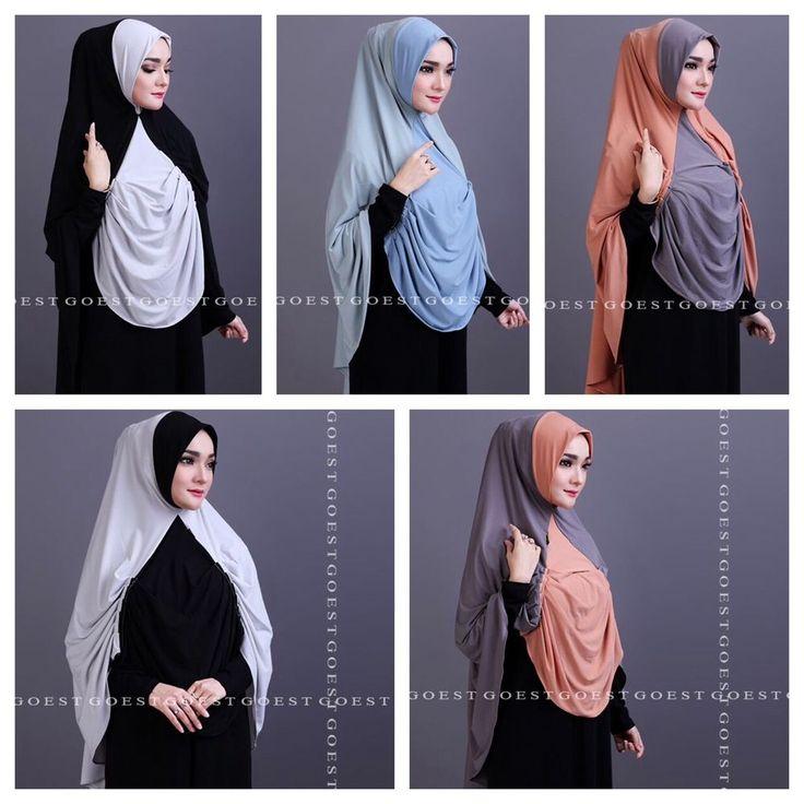 Berly Instant Hijab by Goest. ~One piece slip on style. ~Material: Jersey Lycra.   eBay!