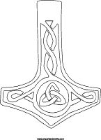 Thors hammer coloring page, mollijnor symbol tattoo design ...