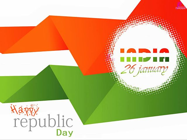 Happy Republic Day Greetings SMS Messages Card Image 26 January Republic Day of India Wallpaper Image