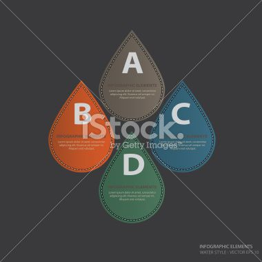 Info Graphic Elements Water Style - Vector Illustration