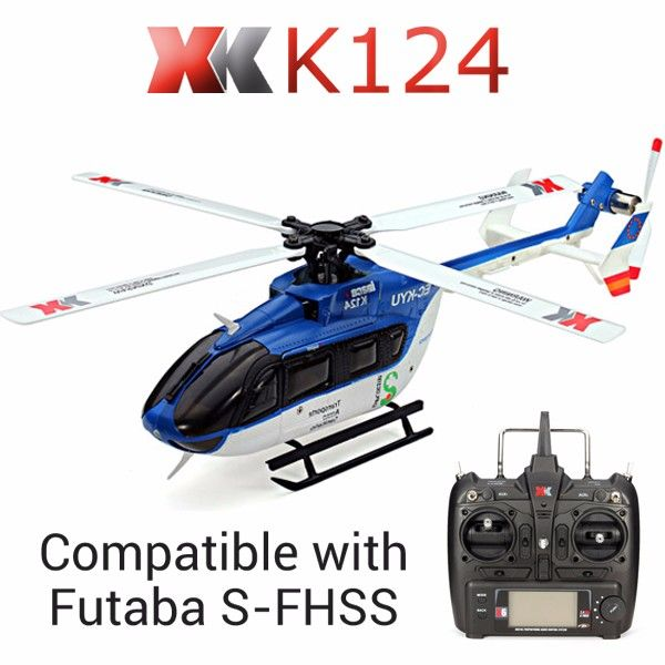 Original XK K124 EC145 6CH Brushless motor  3D 6G System RC Helicopter RTF Compatible with FUTABA S-FHSS //Price: $197.00      #sale
