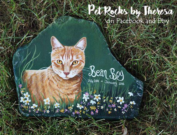 Lápida para mascotas personalizados mascotas por PetRocksbyTheresa