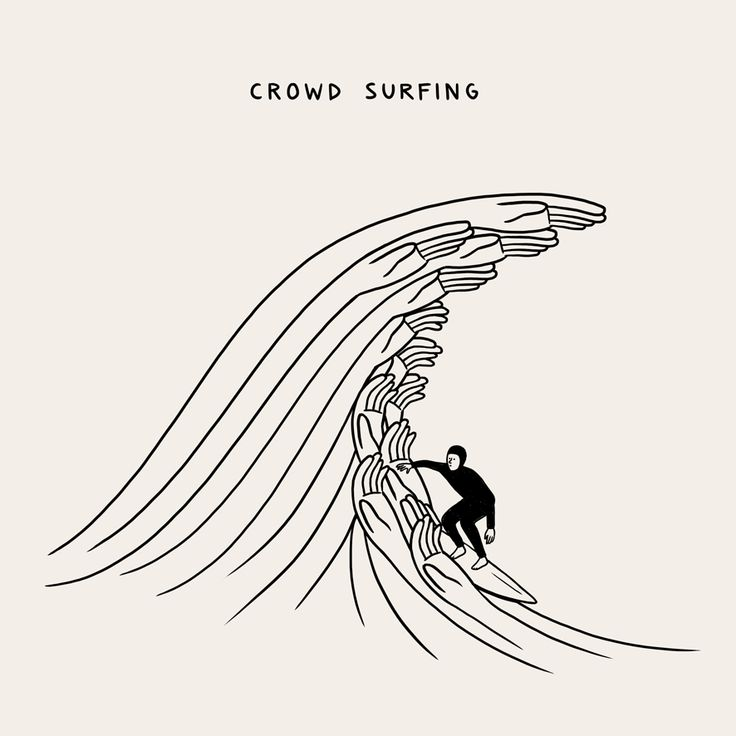 A.HAKES - visualgraphc: Crowd Surfing by Matt Blease