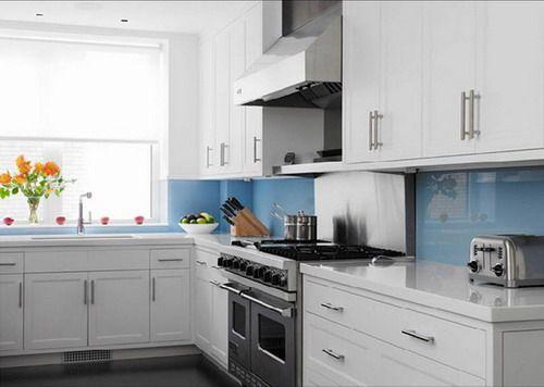 White Cabinets Colorful Backsplash | ... Common Choice Of Kitchen Tile  Backsplashes Ideas For