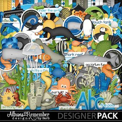 Aquarium, Diving, Sea World, Snorkel digital scrapbook kit by Albums to Remember Designs at www.mymemoriessuite.com