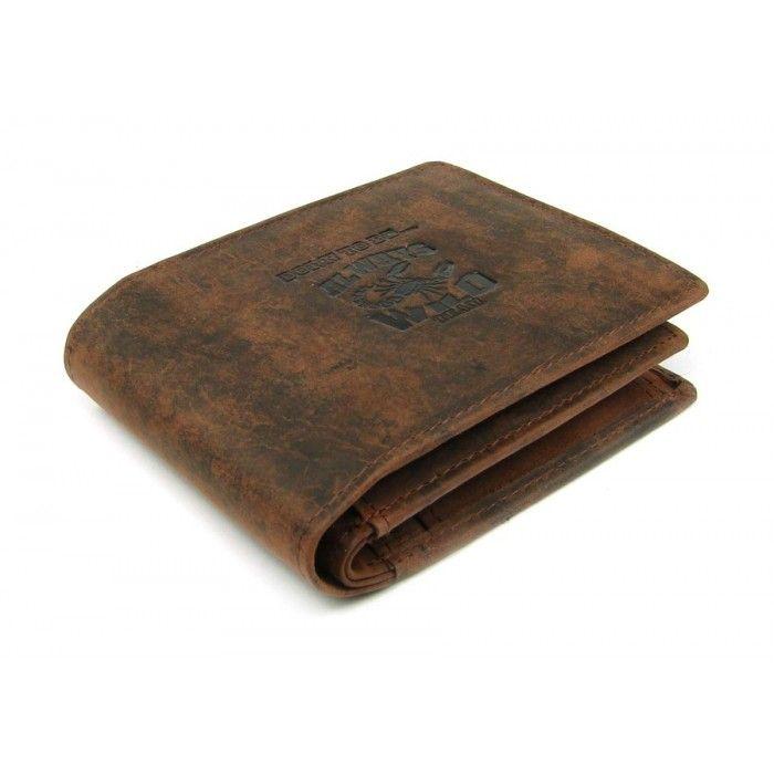 Pánská kožená peněženka červenohnědá - peněženky AHAL