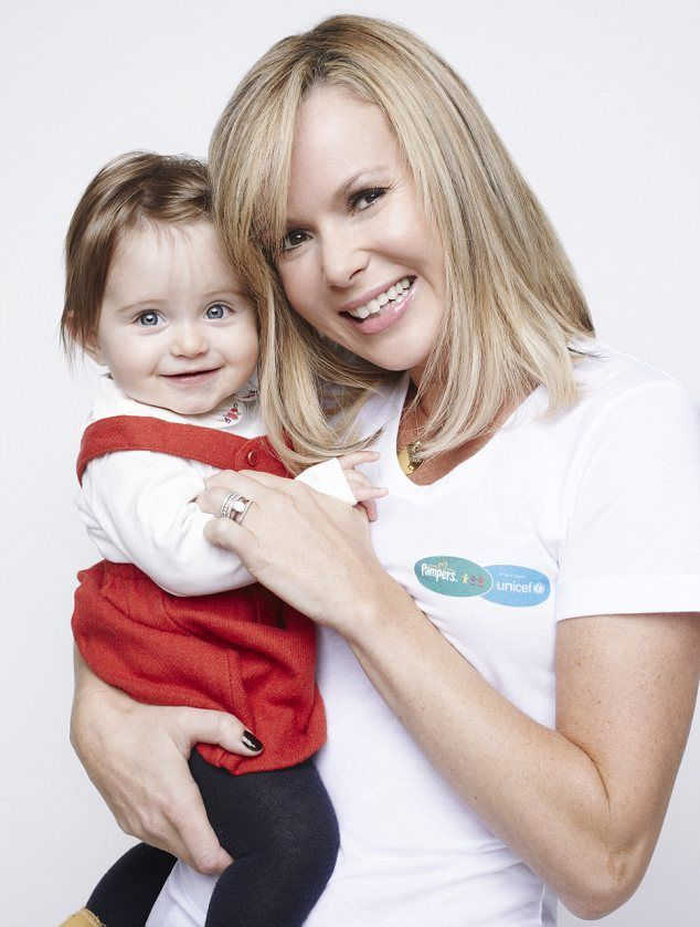Amanda Holden posed with a picture of her daughter Hollie for a new charity campaign