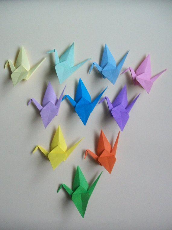 Set of 100 Origami crane wirh woodclips, Wedding favour crane, wedding favour origmai crane woodclips, woodclips crane by Handmadegiftbox