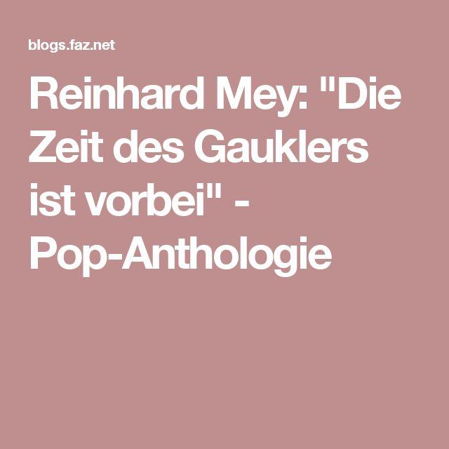 """Reinhard Mey: """"Die Zeit des Gauklers ist vorbei"""" - Pop-Anthologie"""
