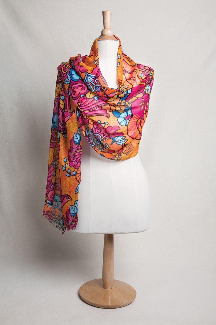 Set your spirit free scarf accessories warrior wear via ford warriors in pink