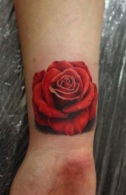 Red rose tattoo ideas. | Temple | Pinterest | Rose tattoos ...