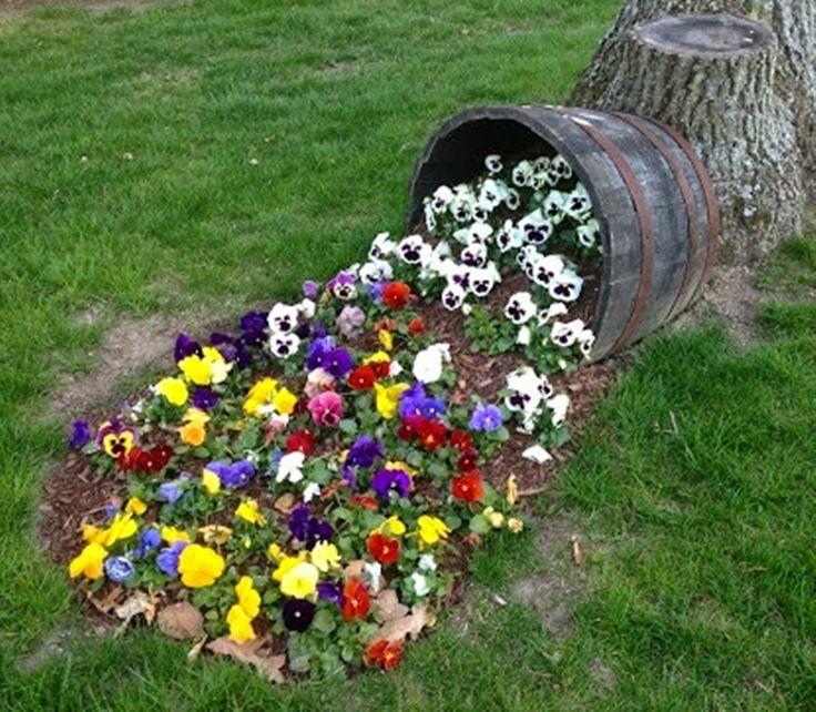 MENTŐÖTLET - kreáció, újrahasznosítás: Kiömlő virágok