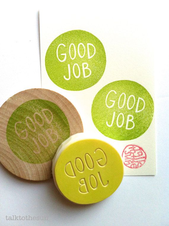 good job rubber stamp. teacher's stamp. by talktothesun, $17.00