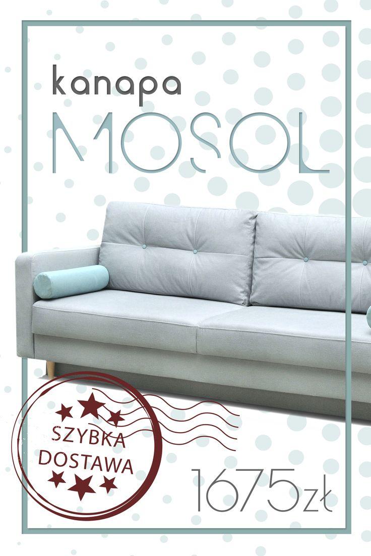 The Mosol couch will allow for the pleasant rest after a hard day at the work. Cause yourself the gift - use from super of minimum price! Kanapa Mosol pozwoli na przyjemny odpoczynek po ciężkim dniu w pracy. Spraw sobie prezent - skorzystaj z super niskiej ceny! #couch #sofa #mirjan24 #rest #afterwork #sleep #home #freetime #livingroom