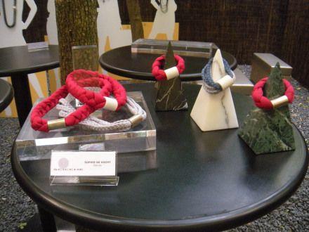 Necklace and bracelets in cotton- metal and cotton-ceramics-  - ottica | Search Results | scicche - www.scicche.it