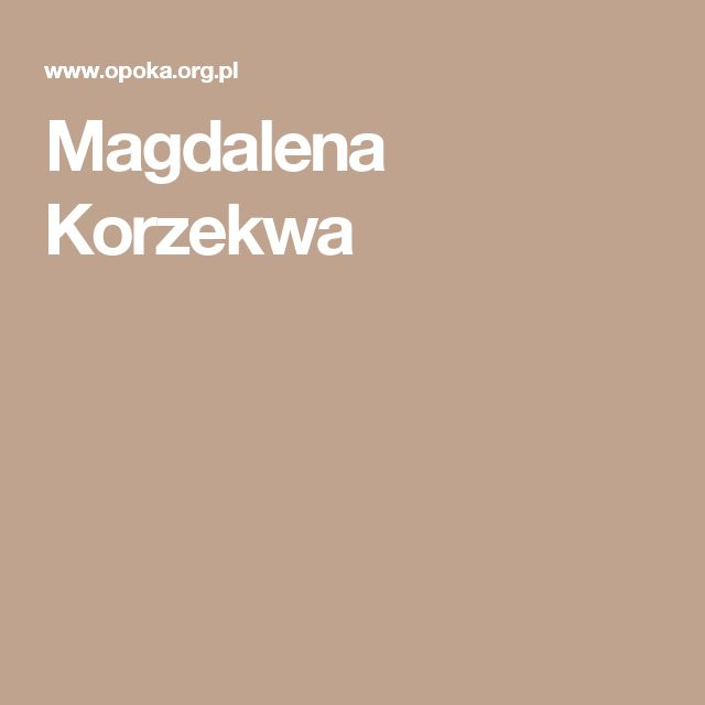 Magdalena Korzekwa
