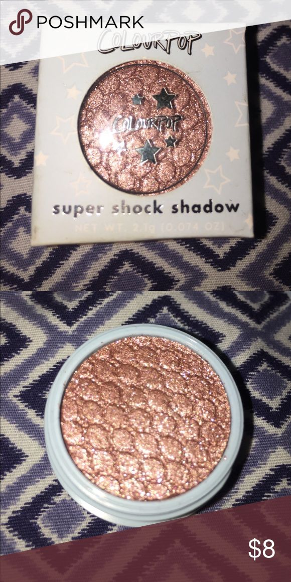 Colour pop super shock shadow Brand new; little wear on package from being stored. In the shade birthday cake. Bundle to save $$$ Colourpop Makeup Eyeshadow