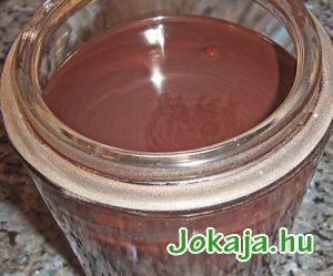 Nagyon csokis, és a benne levő cukor ellenére sem túl édes, sűrűn folyós öntet, ami csokisabb ízű az összes boltinál. Akár fagylaltra, akár süteményre locsolva, vagy forró tejben elkeverve nagyon finom, illatosan csokis - amolyan csokifüggőknek való. Nem utolsó sorban se színezék, se aroma se semmi más kellemetlen dolog nincs benne - és még jóval olcsóbb is. 2,5 dl víz 20 dkg cukor 12,5 dkg sötét holland kakaópor 1 szál vanília 1 rúd fahéj csipet só Tegyük egy fazékba a cukrot, vizet…