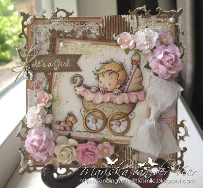 This card was created using Wee Stamps' Wee One, both available as a digi through Wee Stamps and as a rubber stamp through Whimsy Stamps.