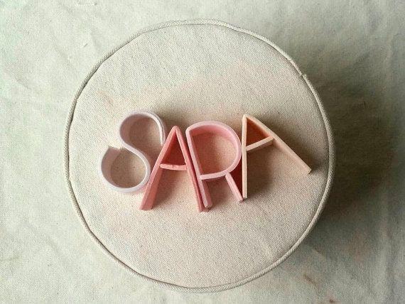 sugar letter cake topper!