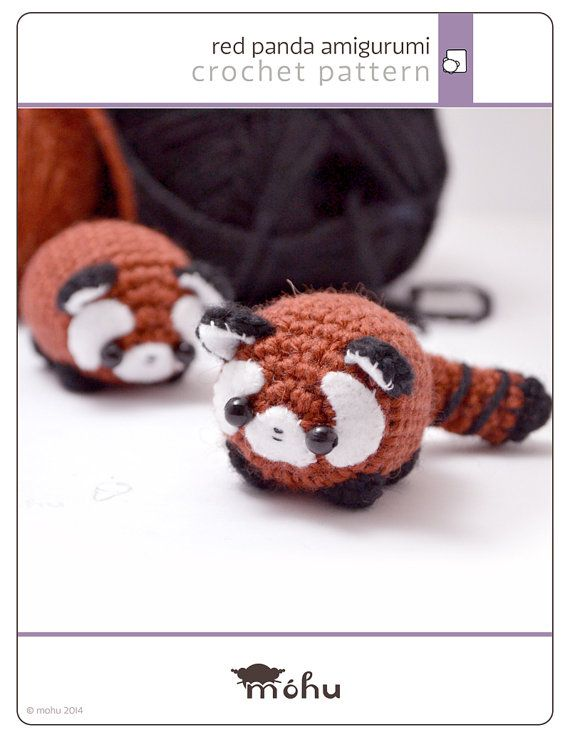 A written crochet pattern to make your own little red panda amigurumi.    The downloadable pdf* file includes a crochet pattern for the red panda and a