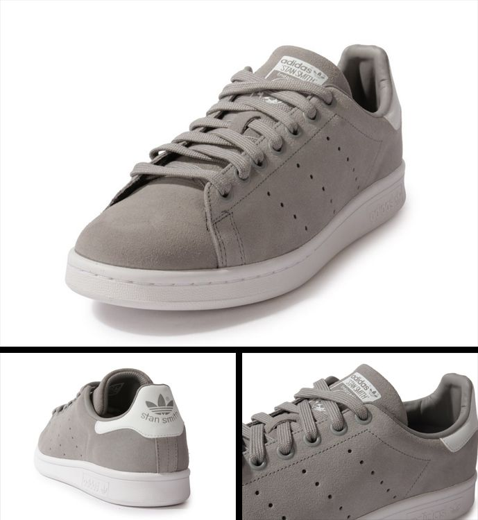 stan smith suede grey sneaker fanatic pinterest grey stan smith and the o 39 jays. Black Bedroom Furniture Sets. Home Design Ideas