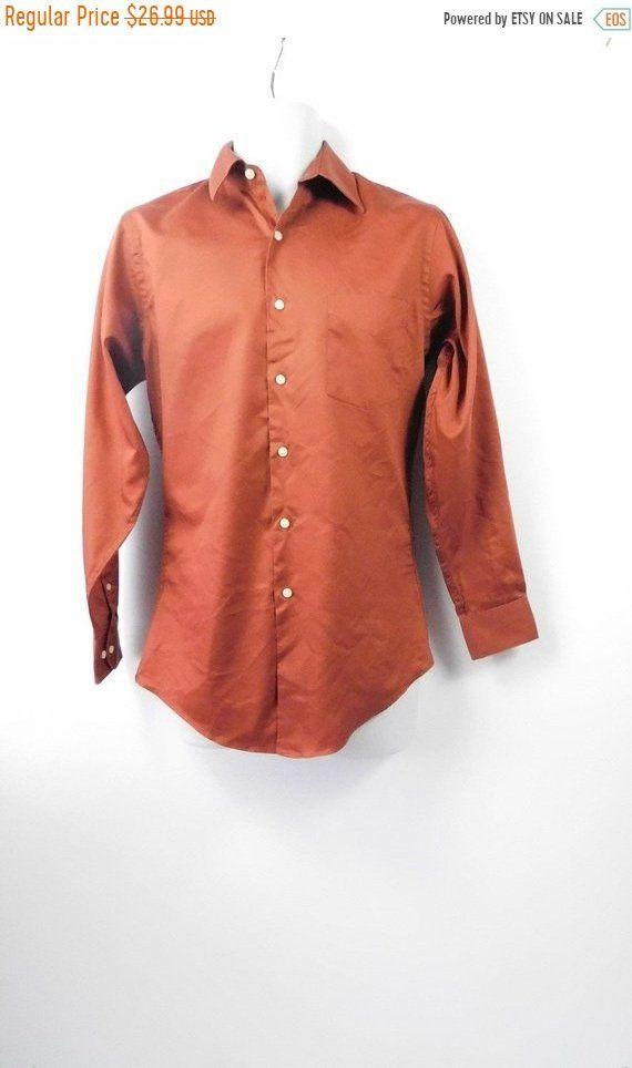 Arrow Mens Wrinkle Free Sateen Solid Shirt