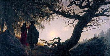 Caspar David Friedrich's Man and Woman Contemplating the Moon, 1818/1824