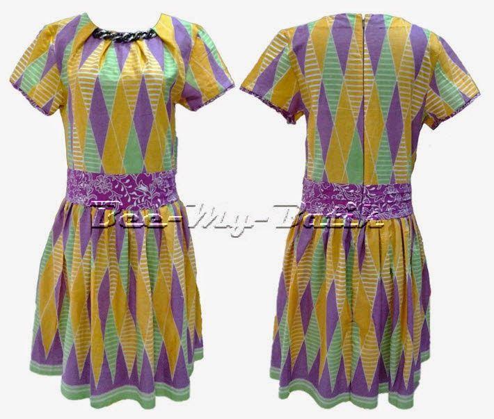 Bee Rangrang Purple Yellow My Dress - Bee-My-Batik