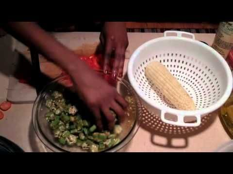 11 best raw bqs soul food recipes images on pinterest soul if you never tried raw okra you will love this quick and easy salad with forumfinder Gallery