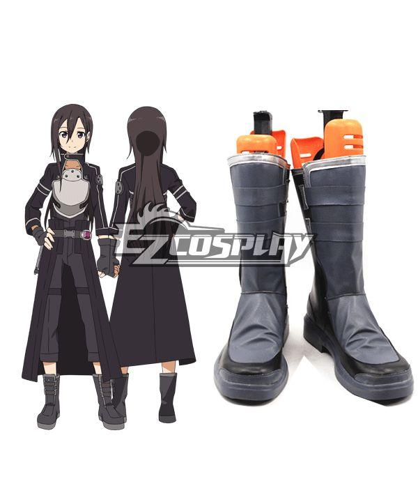 Sword Art Online II SAO Sodo Ato Onrain Gun Gale Online GGO Kirigaya Kazuto Kirito Flat Boots Cospla