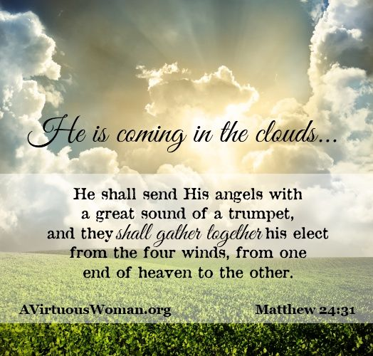 """He is Coming in Clouds"" to take His people home. {A Bible Study about the Second Coming} 