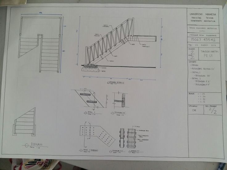 UTS Orthographic Drawing (2) Tangga Kantin FE