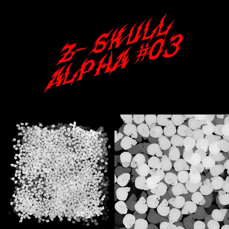 Zbrush Alpha Skull Carpet 03 by ~shtl on deviantART