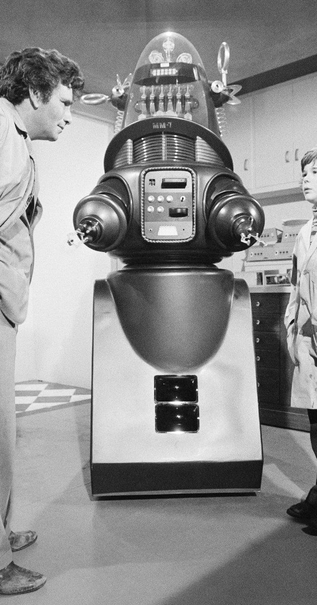 "Sci-Fi Props from a ""Columbo"" episode from 1974 called ""Mind over Mayhem"". Columbo was a detective show, but the robot used here was from the Sci-fi TV series ""Lost in Space"". ~""Danger Will Robinson""~"