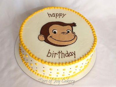 Curious George birthday cake.