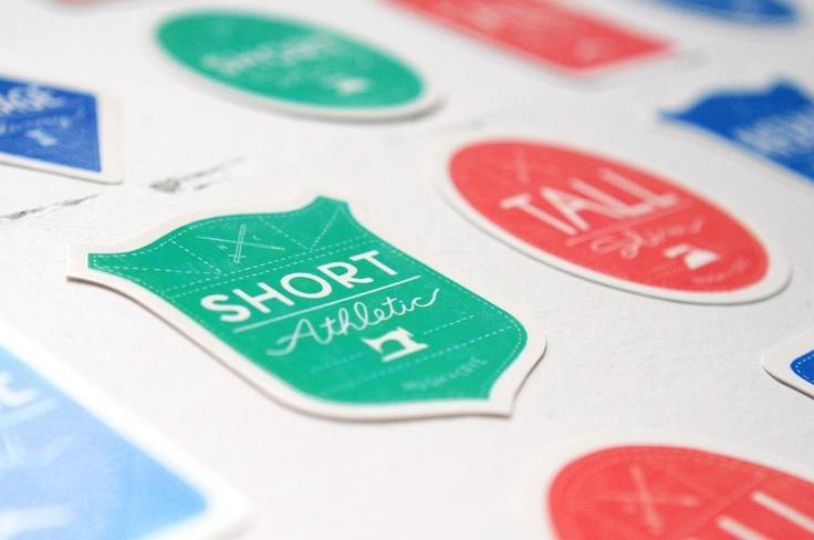Hugh & Crye #fitfinder stickers
