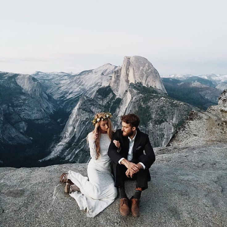 Yosemite elopement on top of a mountain