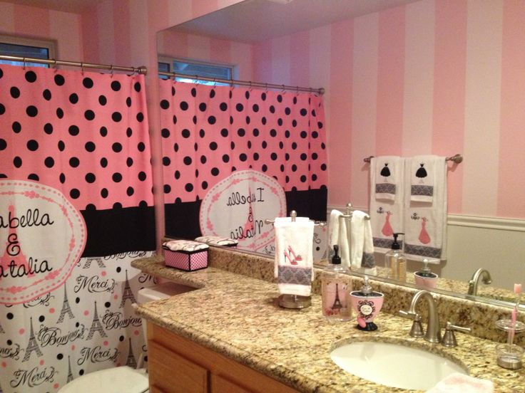 My Paris Theme Restroom! I Got All These Ideas From Pinterest.