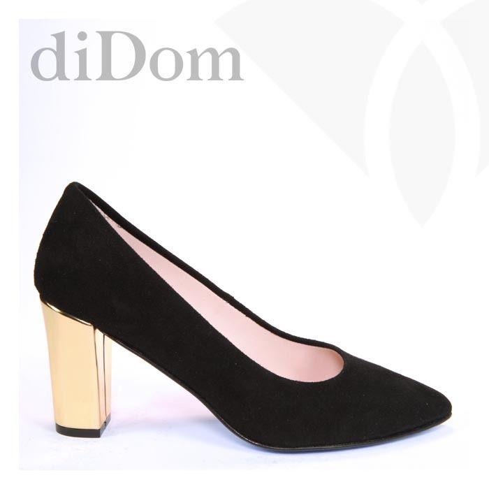 Zapato de salón de ante negro. ¿Qué te parece? A nosotros nos encanta su tacón ancho y metalizado en oro. http://www.didom.es/producto/zapato-salon-ante-negro-tacon-ancho-metalizado-oro-no-del-35-al-42-modelo-flx-tg/#utm_sguid=161387,90a81d41-91ff-1373-aa11-0d1ebb54fb77 #boda #wedding #weddingshoes