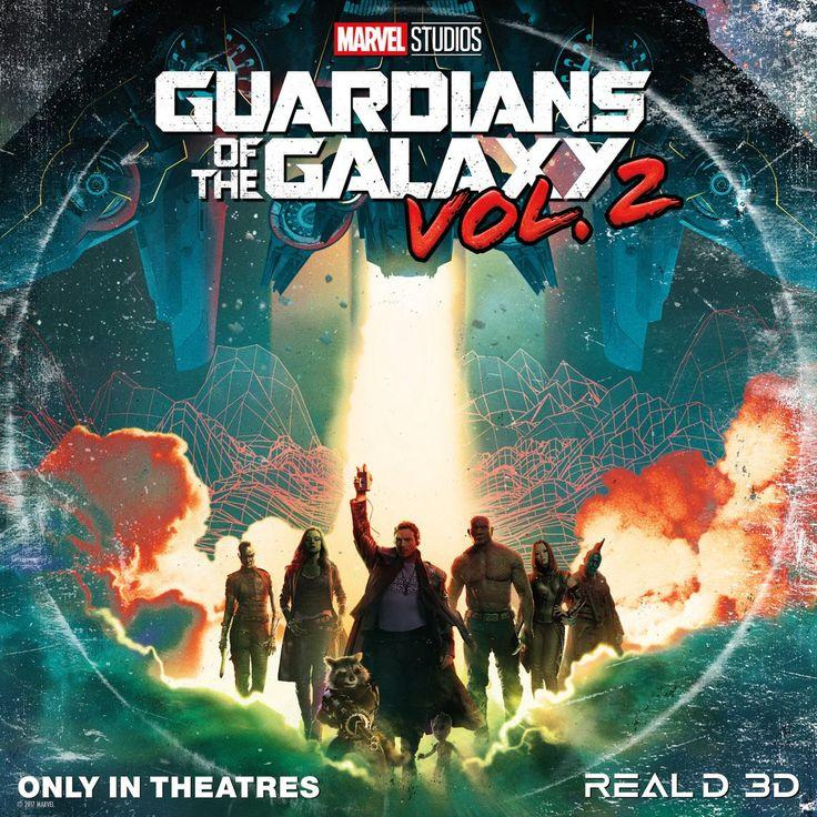 Nuevo poster de Guardianes de la Galaxia Vol.2. Al más puro estilo vinilo.