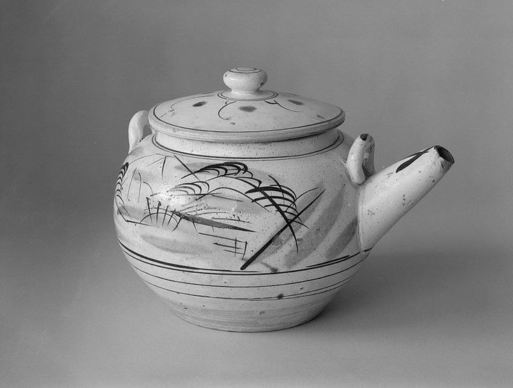 Taisho-Showa Period Ko-Mashiko Ware Mado-e Dobin Window Picture Teapot Brooklyn Museum - Mingei - Wikipedia
