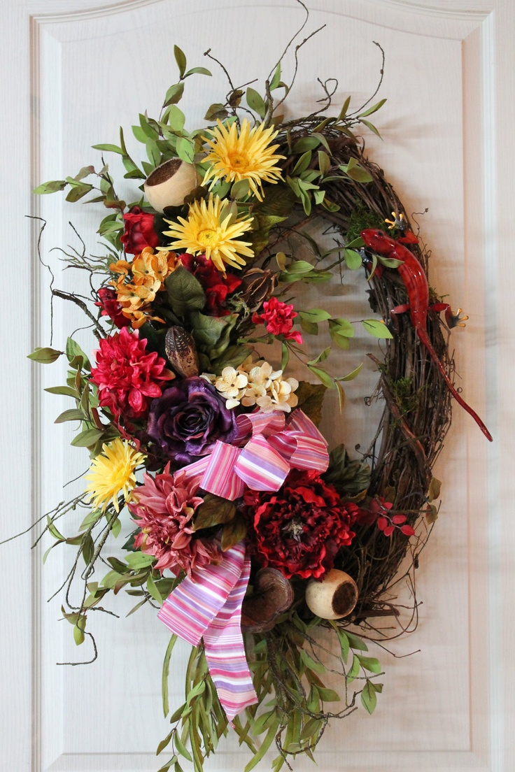 1000 images about spring summer wreaths swags on for Colorful summer wreaths