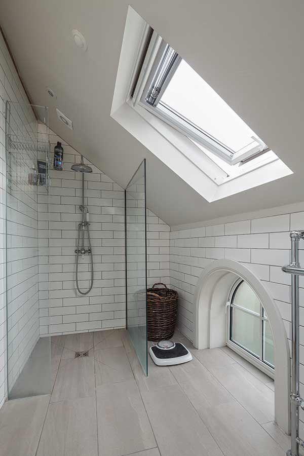 Master Bathroom Ideas Small Attic Bathroom Sloped Ceiling