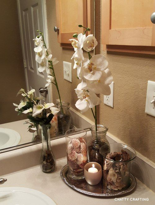 Amazing Dollar Store Decor. Coastal BathroomsBeach BathroomsBathrooms DecorSpa Like  BathroomSmall ...