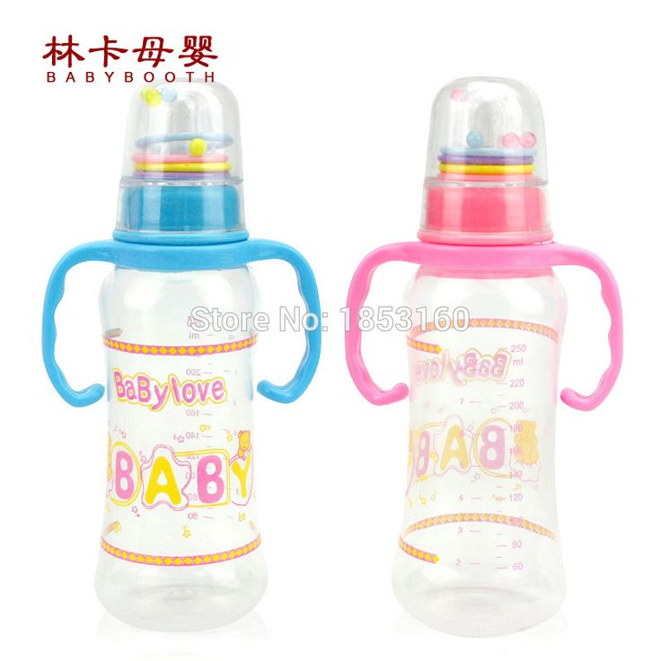 250ml Baby Feeding Pp Bottle With Handle Standard Caliber Nursing Bottle With Shaking Cover
