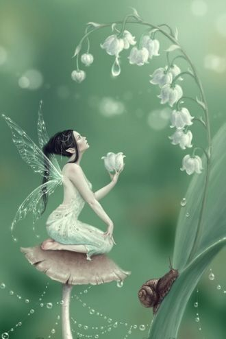 White coral bells Upon a slender stalk Lilies of the valley deck my garden walk Oh, don't you wish that you might hear them ring? that will happen only when the fairies sing.